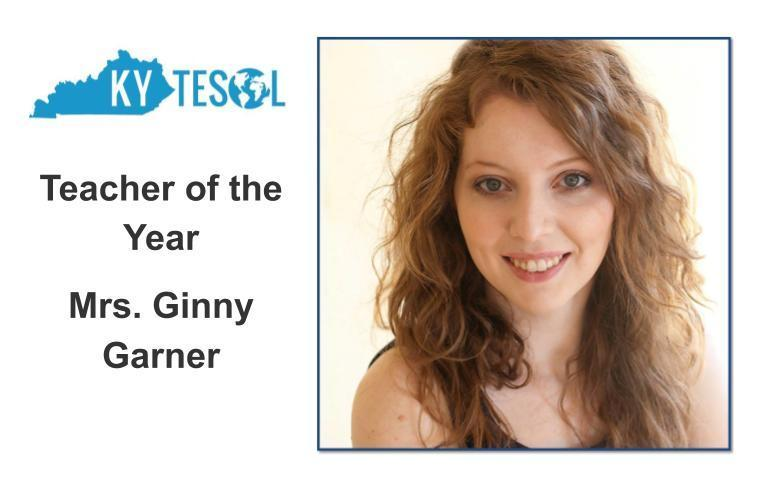 Picture of Mrs. Ginny Garner, 2019 Kentucky TESOL Teacher of the Year