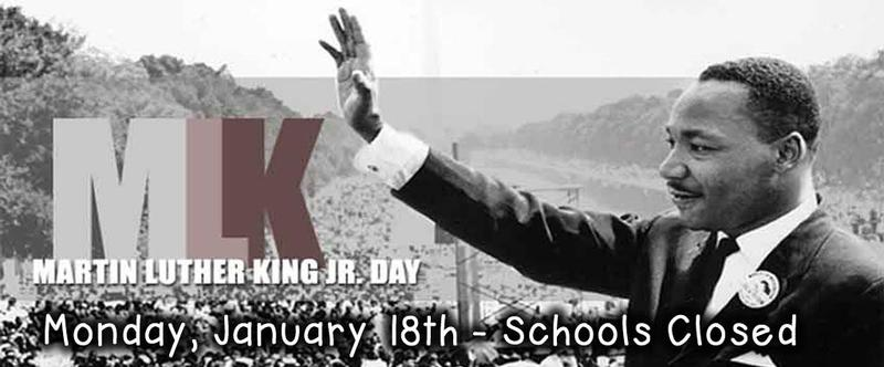 MLK Holiday, Monday, January 18th - Schools Closed Thumbnail Image