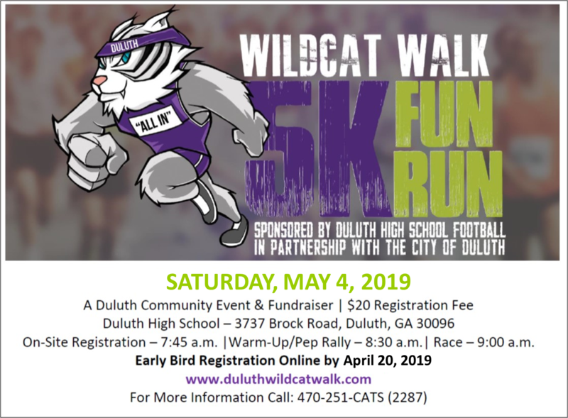 The Annual 5K Wildcat Walk Fun Run is back!! Thumbnail Image
