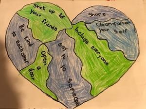 Sierra's kindness heart drawing