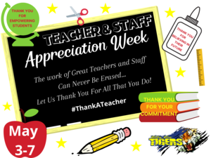 May 3-7, 2021 has been designated as Teacher Appreciation Week Thumbnail Image