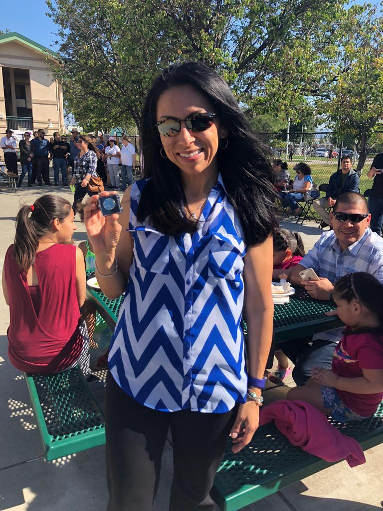 julissa perez receives pin for fifteen years of service