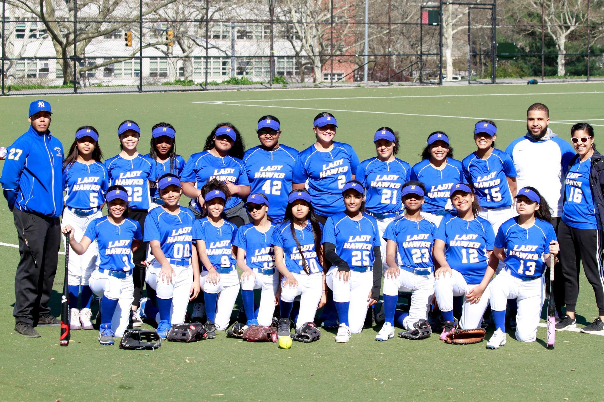 Girls softball team photo