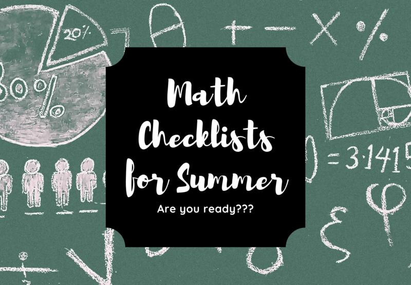 math summer ixl checklists