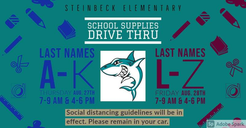Supplies pick up dates and times