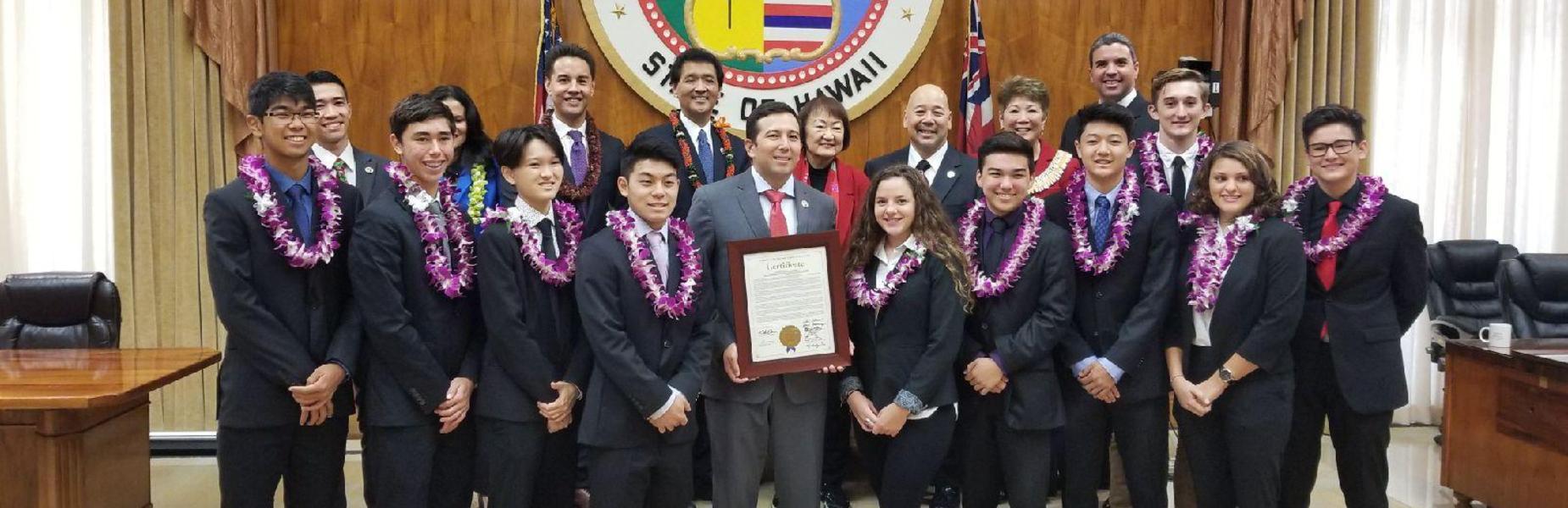 Kasier media club recognized by Honolulu Council members