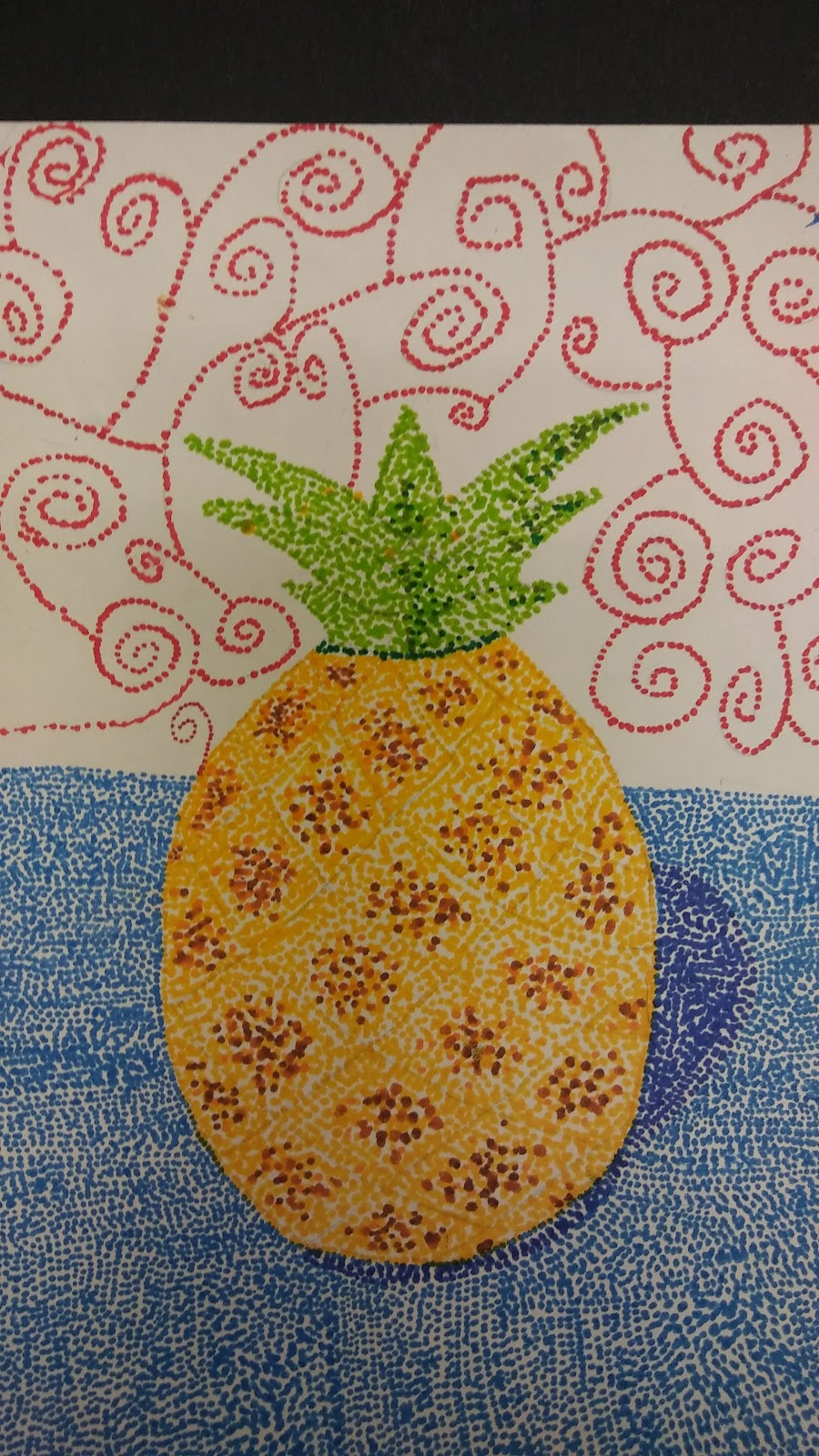 Landmark Student Painting of Pinnapple