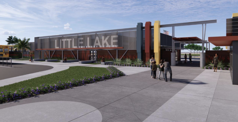 Picture of a rendering of Little Lake Elementary one remodeled