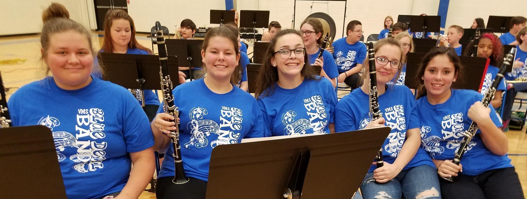 5 VMS Band Students