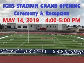 JGHS Stadium Grand Opening Celebration- May 14, 4:00 pm Featured Photo