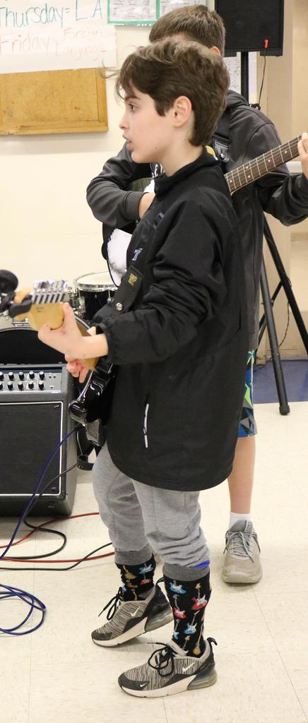Members of the Afternoon Ramble - a group of students and staff who gather to make music together - provided the lunchtime entertainment during Mix It Up Day.