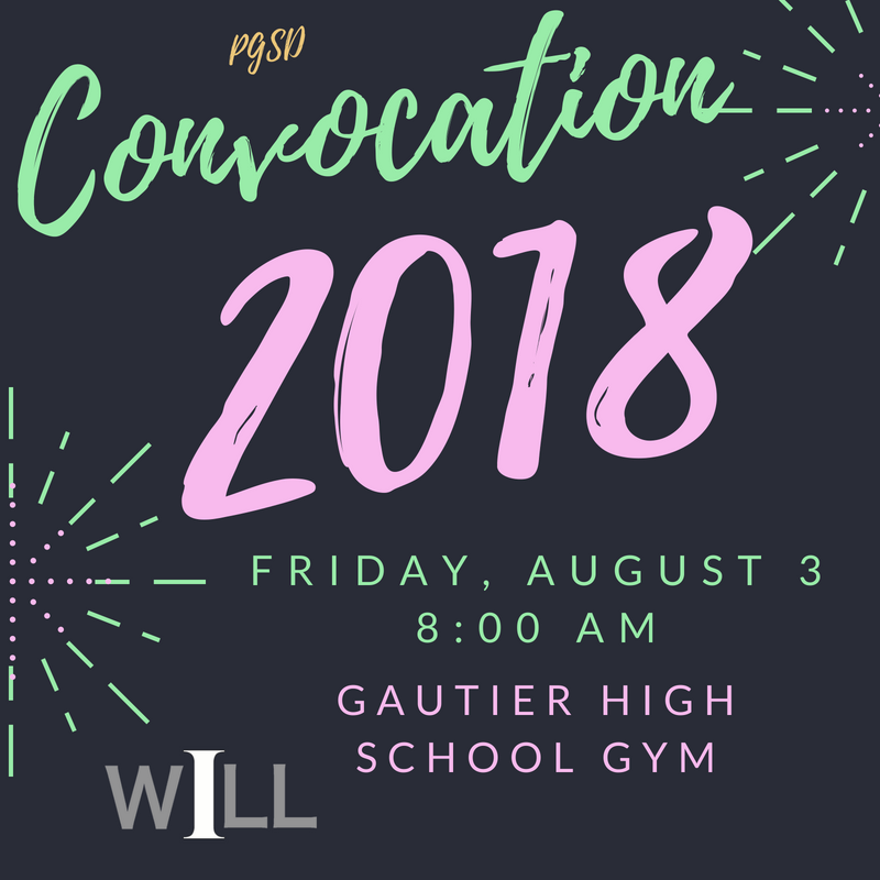 2018 Convocation is Friday, Aug 3, 8 am @ GHS!