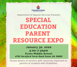 Special Education Parent Resource Expo