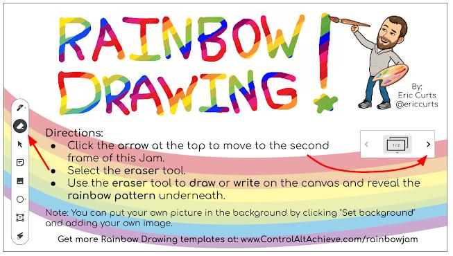Rainbow Jamboard Templates
