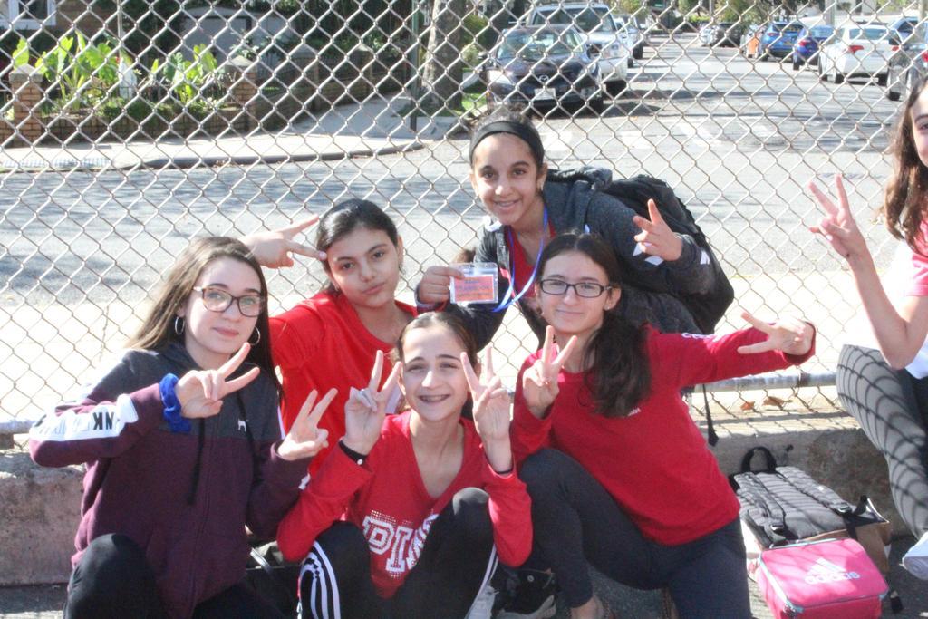 8th grade in school yard