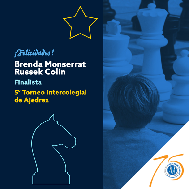 Brenda Monserrat Russek Colín finalista en competencia nacional del 5° Torneo Intercolegial de Ajedrez Featured Photo