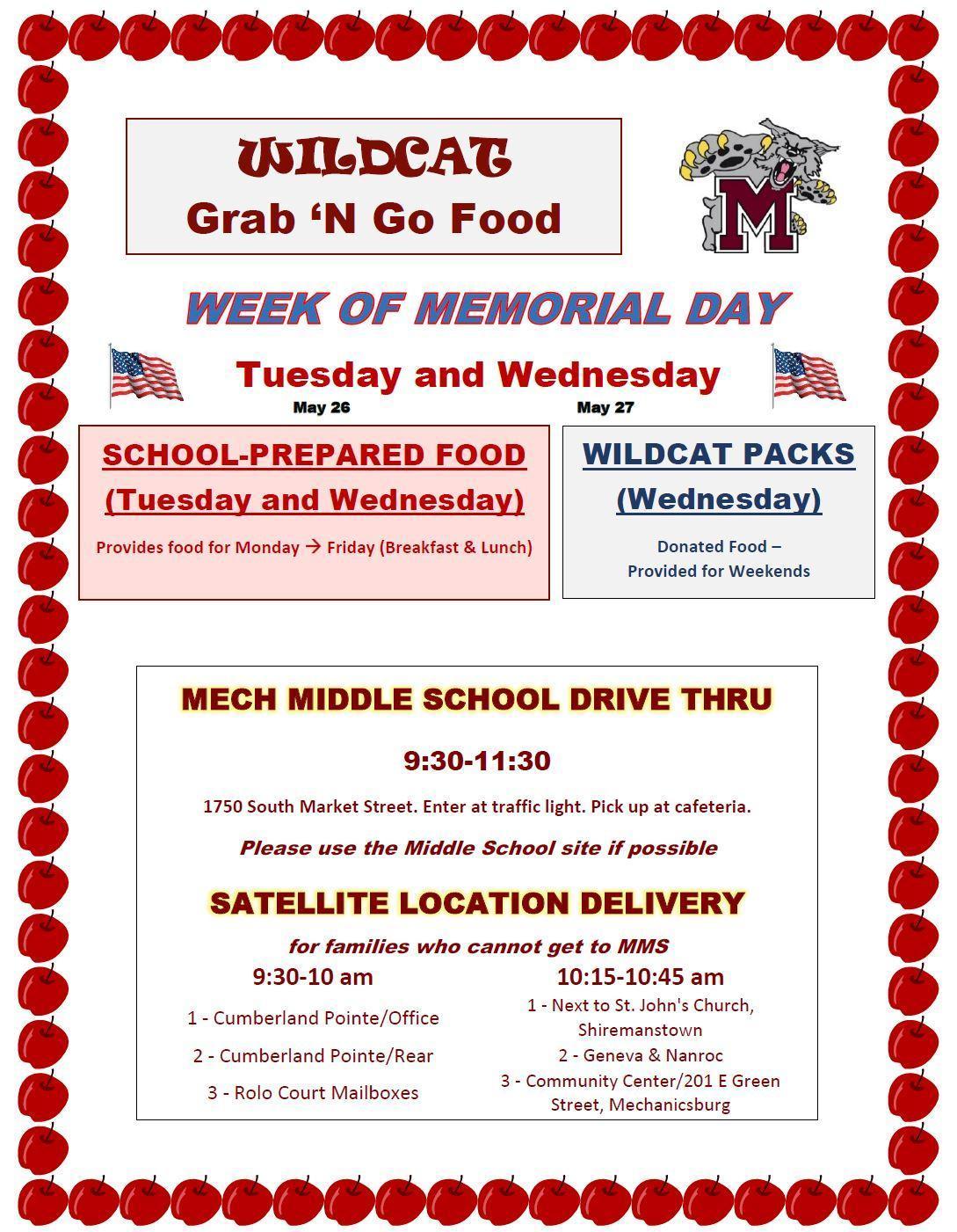 Grab 'N' Go Services - Week of Memorial Day