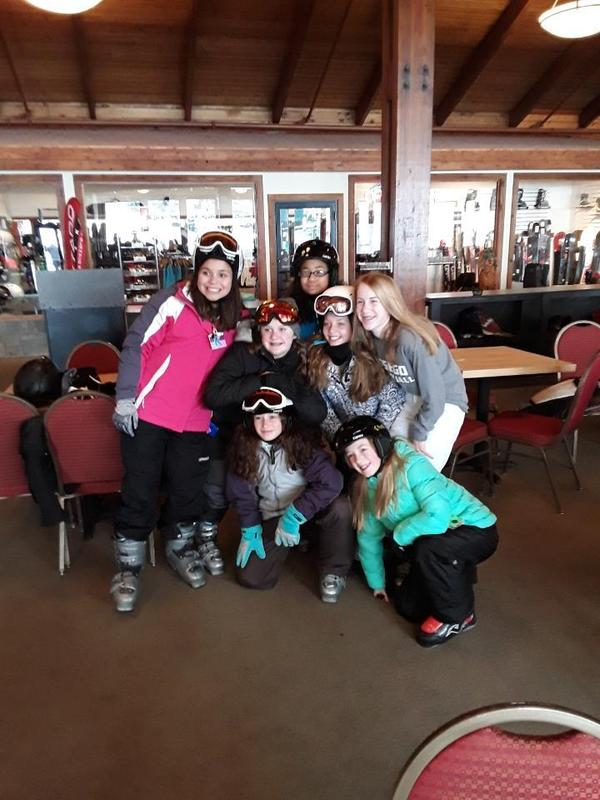 students inside before skiing