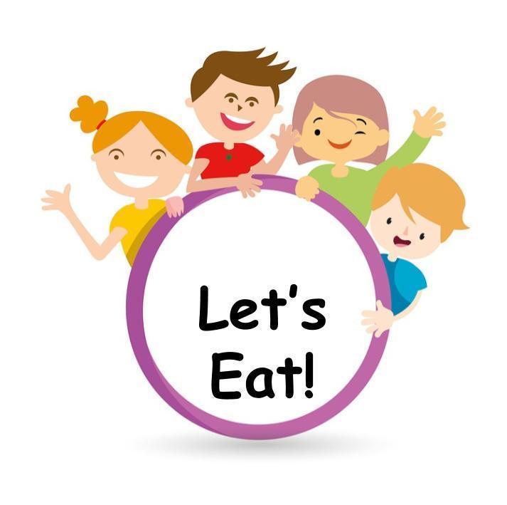 Children saying Let's Eat!
