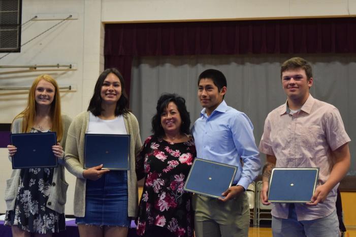 Student getting scholarship