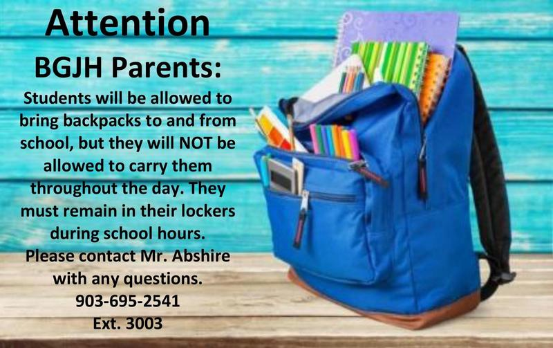 Backpack Rules for 2019-2020 School Year Thumbnail Image