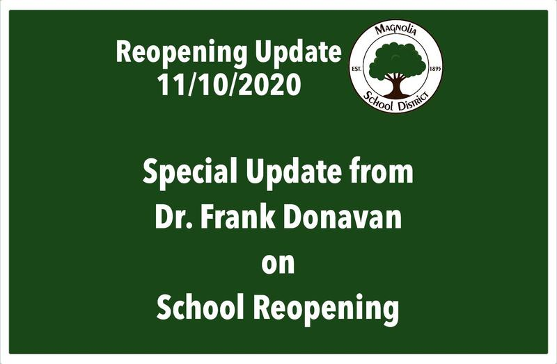 November 11 School Reopening Update