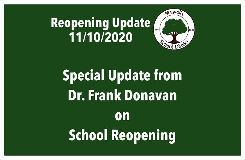 November 11 School Reopening Update