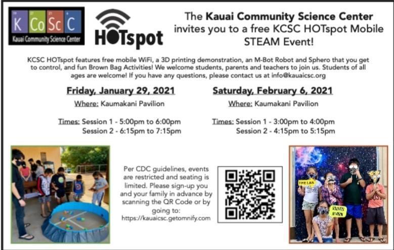 KCSC PRESENTS MORE HOTSPOT EVENTS Thumbnail Image