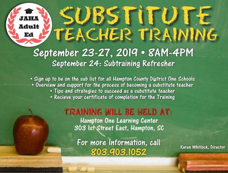 Substitute Training Information