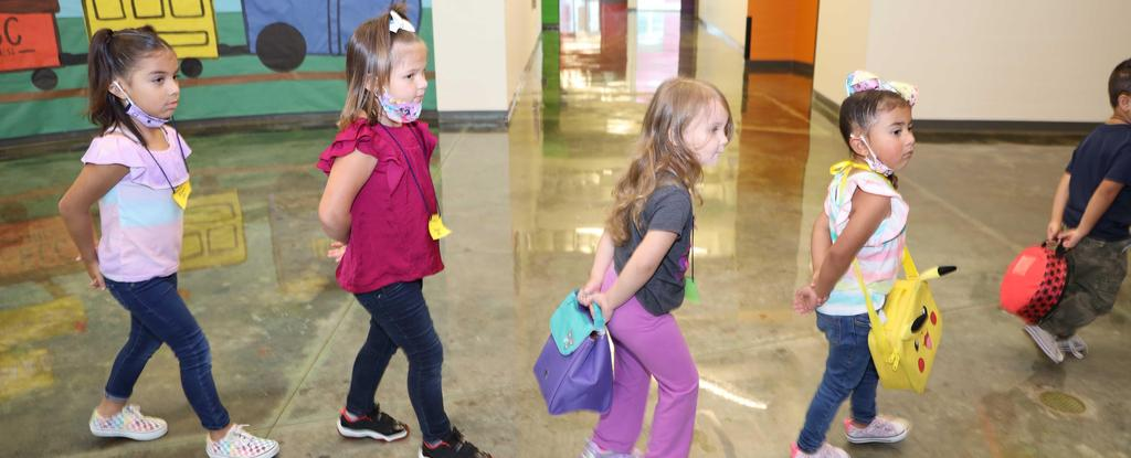 Early Childhood Center students tour the school