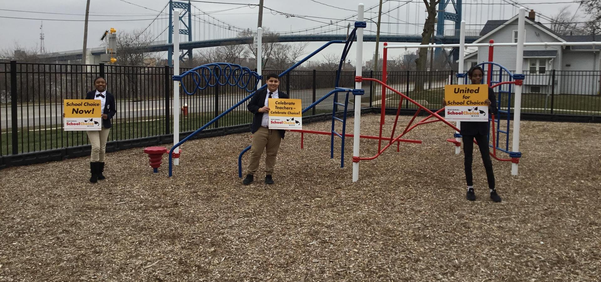 Picture of students in the playground