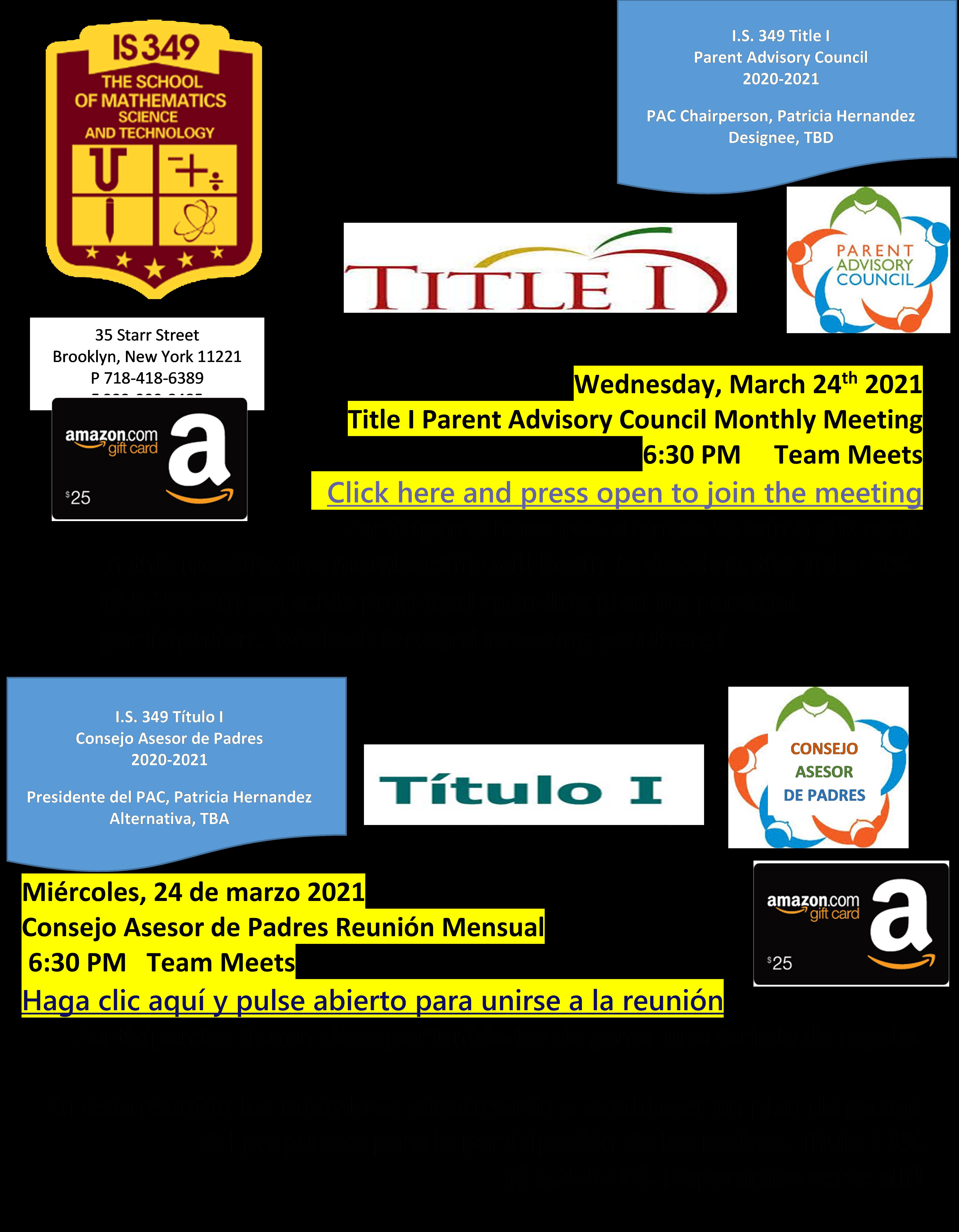 PTA Meeting 3 24 21