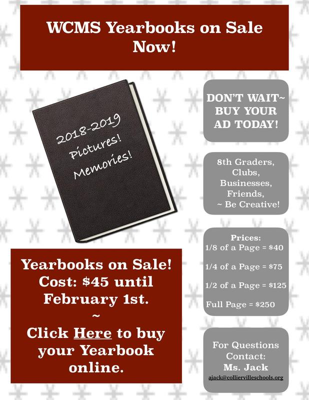 Pre-Order Your WCMS Yearbooks and Ad Spaces Today! Featured Photo