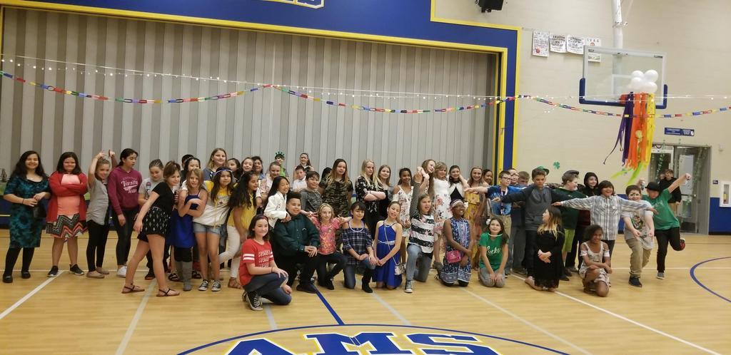 Students at School Dance