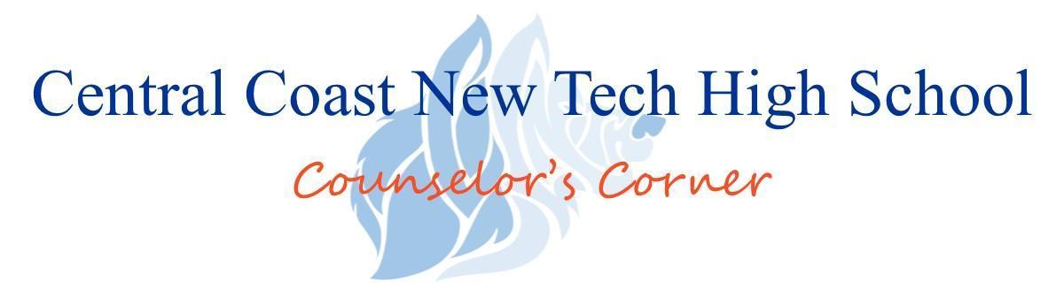 School Counselor – School Counselor – Central Coast New Tech High School