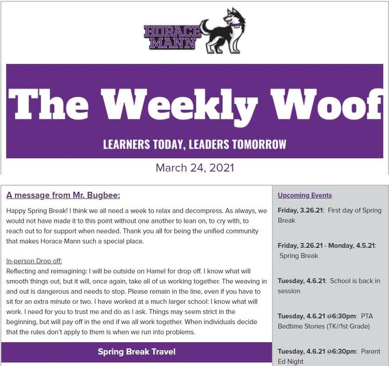 The Weekly Woof Newsletter for March 24, 2021 Featured Photo