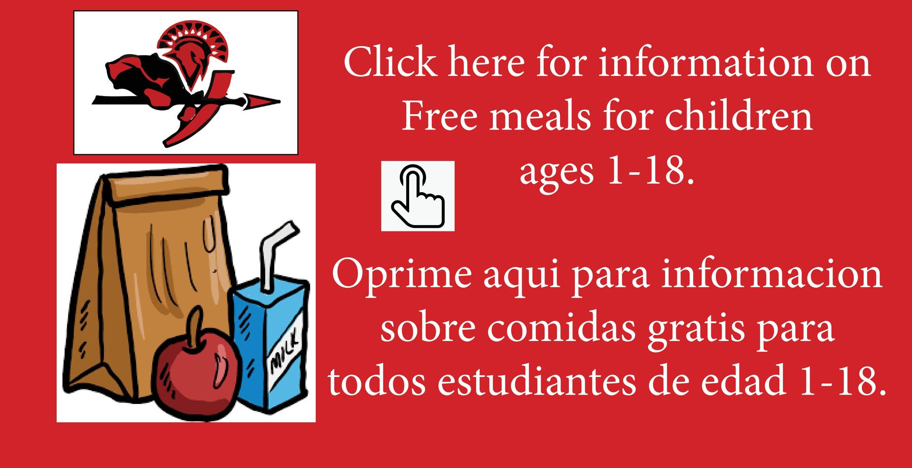 Picture on meals for students