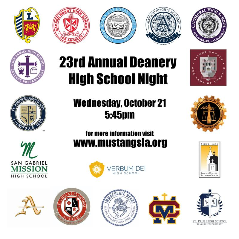 23rd Annual High School Night - Wednesday, October 21 @ 5:45pm Featured Photo