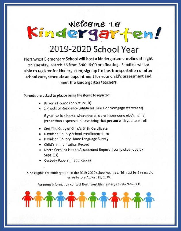 Kindergarten Registration Information.