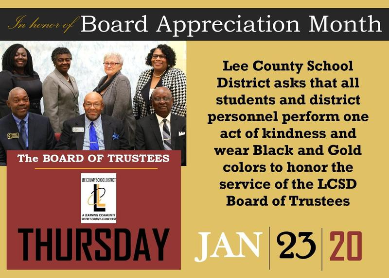 Board Appreciation flyer