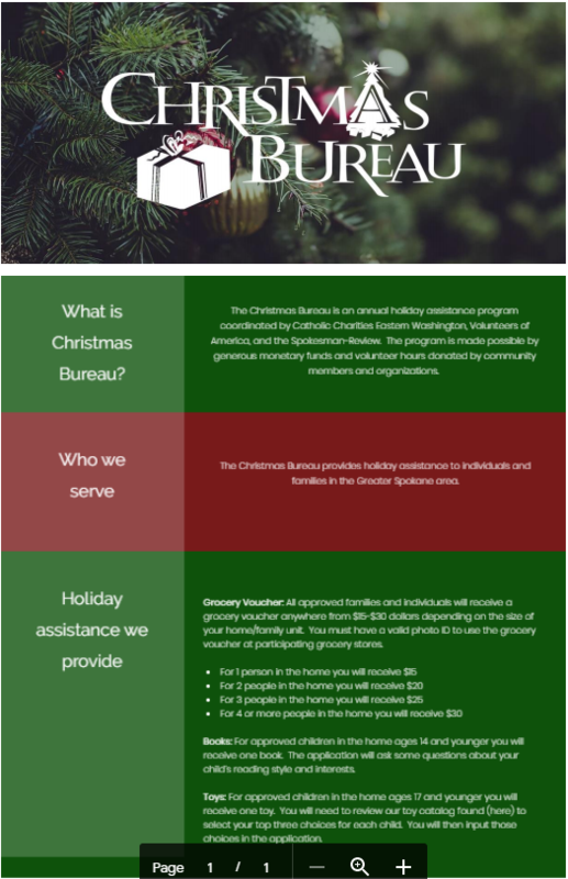 Christmas Bureau Flyer