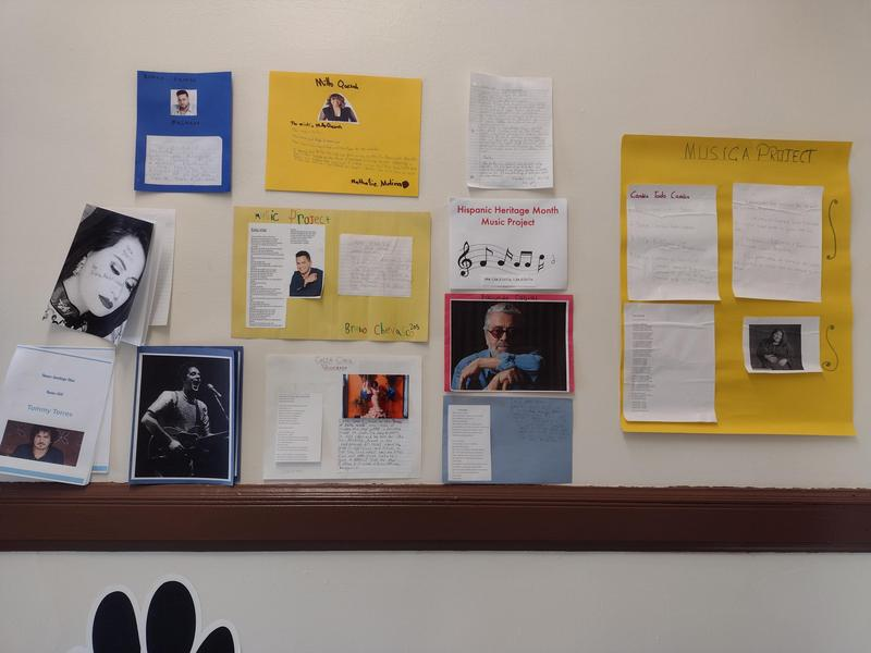 Music projects hanging on wall