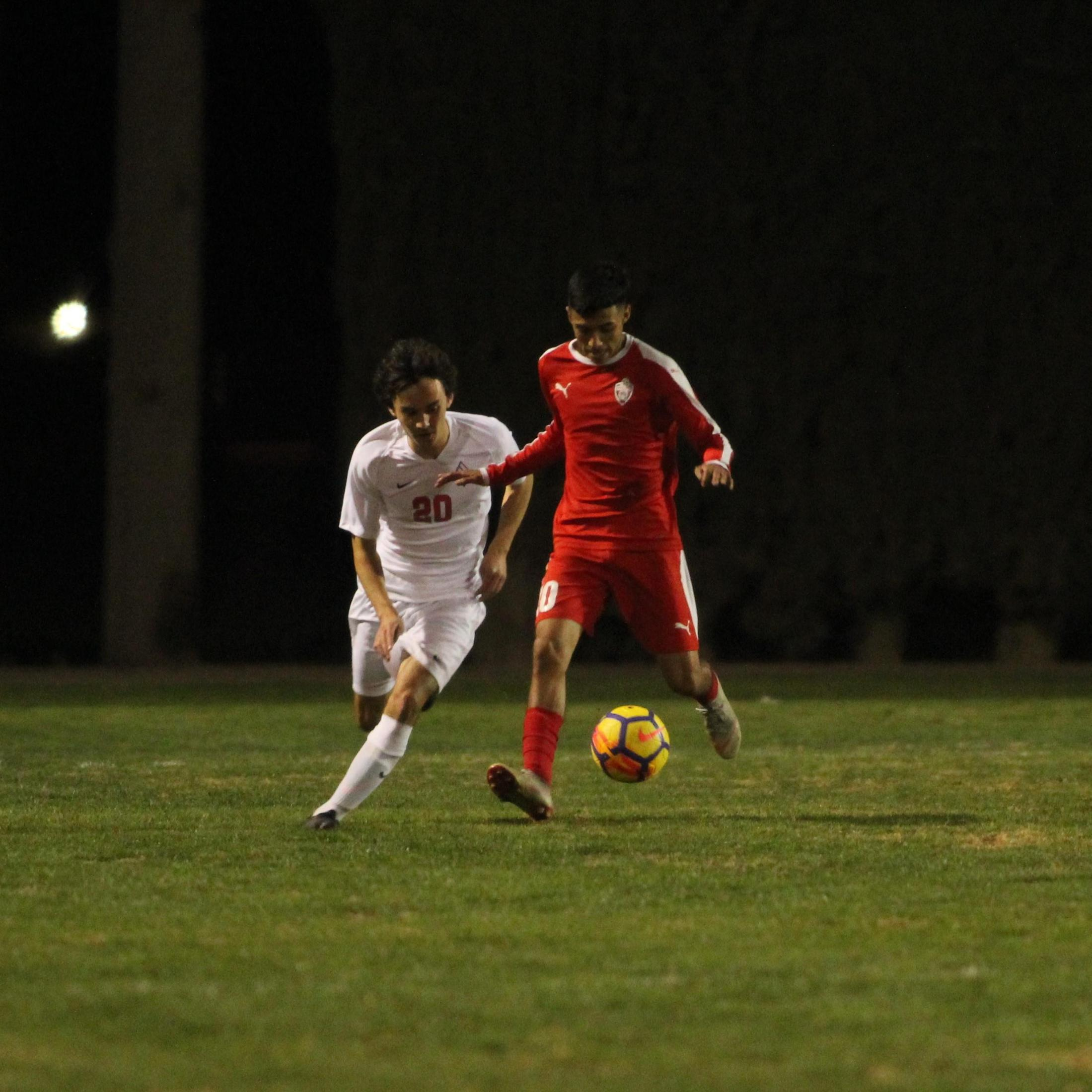 Jacob Corchado running with the ball