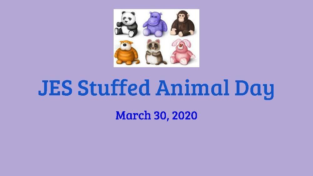 Photo of beginning slide for Stuffed Animal Day at Jefferson School.