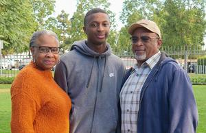 Vaughn and his parents