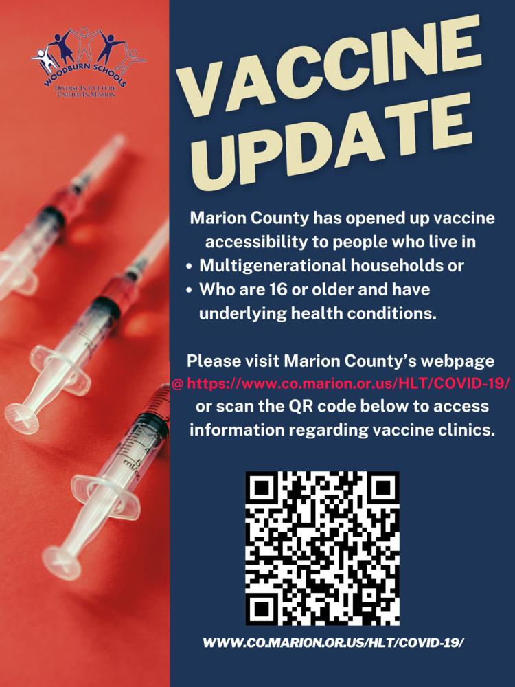 Marion County Vaccine Update