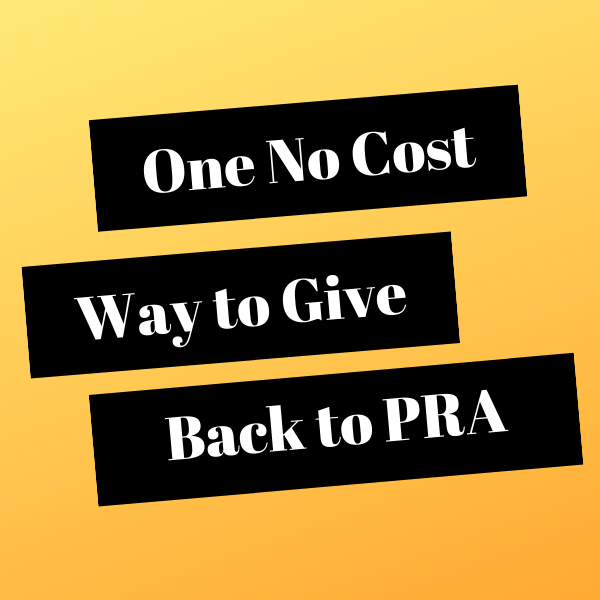 One Simple No Cost Way to Give Back to PRA Thumbnail Image