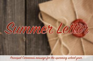 Summer Letter & Important Information for the 2019-2020 School Year