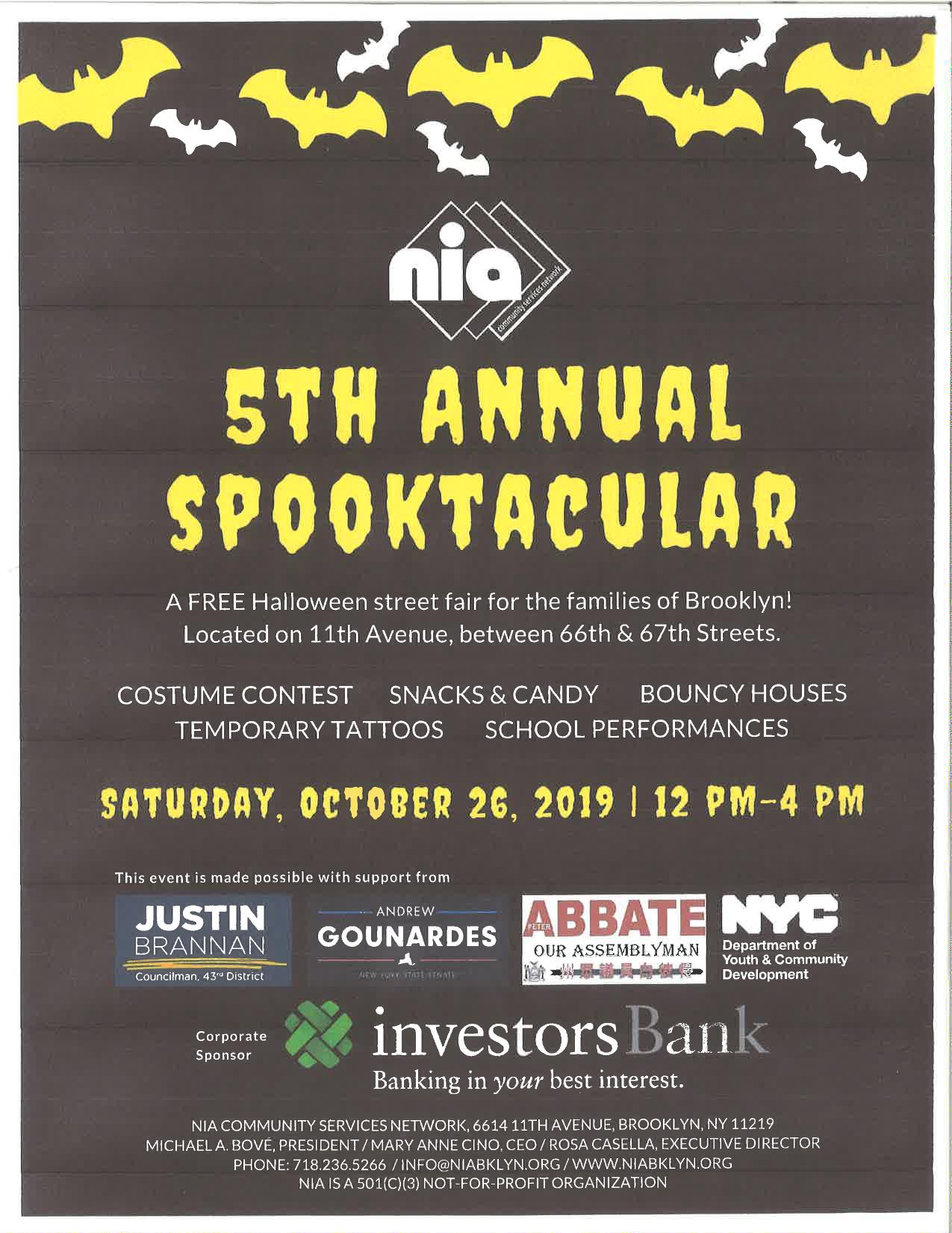 Saturday, October 26th, 2019 | 12 PM - 4 PM - 5th Annual Spooktacular: