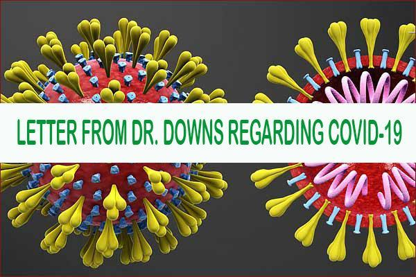 COVID Website Image for Dr. Downs letter